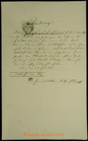 148353 - 1855 RAKOUSKO-UHERSKO  kvitance s kolkem 8Fl C.M., dole podp