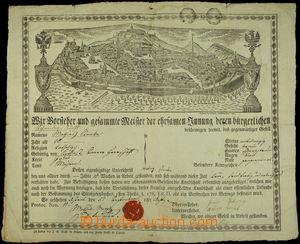 148358 - 1828 MISTROVSKÝ LIST / BRNO  krásně tištěný mistrovský list