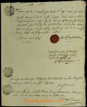 148360 - 1788 RAKOUSKO  dlužní úpis na 10.000 zlatých, krásná šlechti