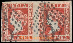 148973 - 1854 SG.15, 1A červená, vodorovná 2-páska, kresba III., výra