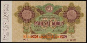 149050 - 1919 Ba.11b, 50Kč, série 0063, neperforovaná, velmi dobrá kv