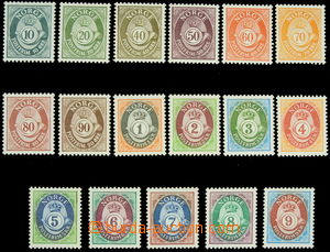 149056 - 1978-2010 Mi.758-763, 1107-1111, Horns, selection of 17 valu