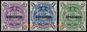 149095 - 1949-50 SG.224bs, 224cs, 224ds, Znak 10s purpurová, £1