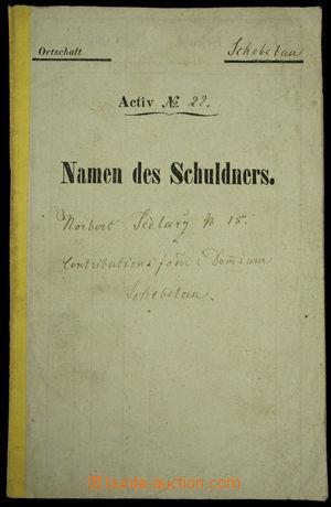 149158 - 1864 RAKOUSKO  spořitelní knížka, vklady doplňovány kolky 2.