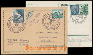 149536 - 1938 dopisnice Mi.P275, 6Pf dofr. zn. 4Pf Hindenburg, PR AUS