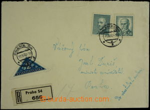149590 - 1947 Reg letter strictly private addressed to minister agric