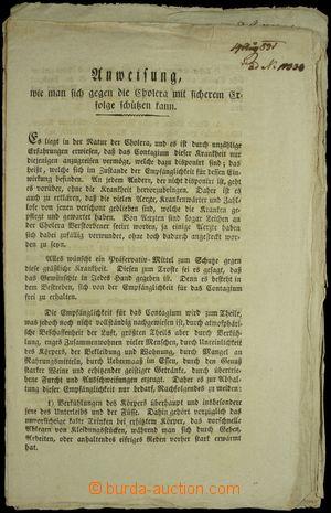 149697 - 1782-1851 sestava 17ks cirkulářů z oblasti vojenství, lékařs
