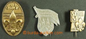 149699 - 1946-48 SKAUTING  sestava 3ks odznaků z let 1946-1948, A. B.