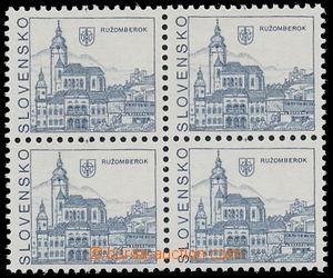149911 - 1993 Zsf.3, Ružomberok, 4-blok s VV - vynechaná hlubotisková