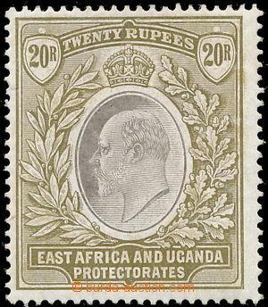 149928 - 1904-1907 SG.32, Edvard VII. 20R šedá / matně zelená, násobn