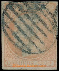 150012 - 1852 Mi.14, Edifil14, Isabela II. 2R bledě oranžová; velmi p