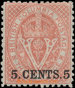 150058 - 1868-1871 SG.23, Nová měna, Znak 5C červená, zoubkování 12&#