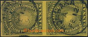 150062 - 1890-1895 SG.7cb, 2½ Annas žlutá / černá, nezoubkovaná