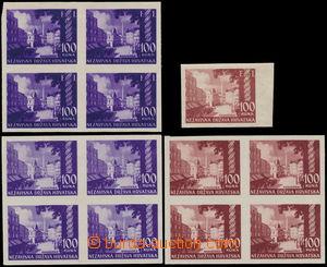 150420 - 1942 Mi.65, 81, 2x 4-blok (*), ZT Krajinky Banja Luka 100K,