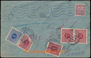 150509 - 1931 insufficiently franked letter sent from Brno to Prague,