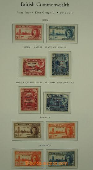 150587 - 1945-46 [SBÍRKY]  sestava 164 známek Vítězství, rozděleno po