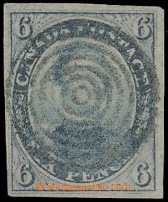 150613 - 1852 SG.9, Princ Albert 6c břidlicově šedá, nádherný střih,