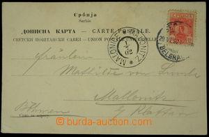 150648 - 1902 pohlednice (žena v kroji) adresovaná do Čech, vyfr. zn.