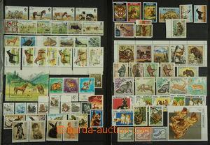 150716 - 1970-2000 [SBÍRKY]  FAUNA sestava námětových známek zvířat,
