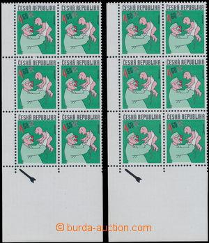 150802 - 1999 Pof.232, Český kreslený humor 4,60Kč, sestava 2ks levýc