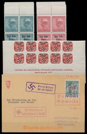 151324 - 1938 HAIDA, SCHWOIKA  sestava zn. Pof.322-3 ve 4-blocích a A