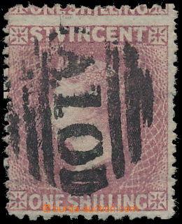 151383 - 1872 SG.20, Královna Viktorie 1Sh tmavě růžová, ŘZ 11¾