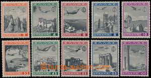 151399 - 1940 Mi.437-446, Letecké, kompletní série; smyté stopy po ná