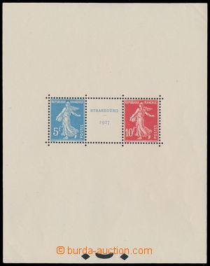 151539 - 1927 Mi.Bl.2, aršík Strassbourg; luxusní lep, ohyb v pravém
