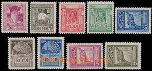 151548 - 1929 ITALSKÁ OKUPACE/ RHODOS  Mi.17-25, kompletní série; kat
