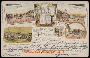 151578 - 1899 JABLUNKOV (Jablunkau) - 5-okénková litografie, náměstí,