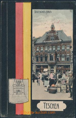 151579 - 1906 ČESKÝ TĚŠÍN (Teschen) - jednozáběrová koláž, Německý dů