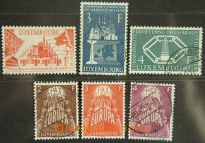 151649 - 1956-57 Mi.552-554, 4. Anniv E.C.S.C. + Mi.572-574, EUROPA 1