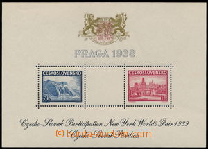 151681 - 1939 Exilové vydání, AS4, aršík PRAGA 38, Pof.A342/343, čern