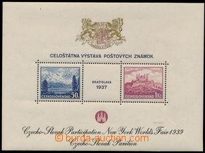 151683 - 1939 Exilové vydání, AS3e, aršík BRATISLAVA 37, Pof.A329/330