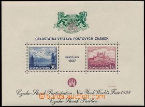 151684 - 1939 Exilové vydání, AS3, aršík BRATISLAVA 37, Pof.A329/330,
