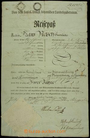 151826 - 1803 RAKOUSKO / CESTOVNÍ PAS  dokument s vtištěným kolkem 3K