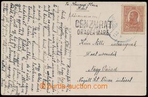 152060 - 1920 CHUST - OBSAZENÍ RUMUNSKEM  pohlednice adresovaná do Na