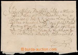152063 - 1705 skládaný přebal šlechtického dopisu z roku 1705 se zach