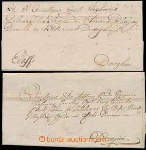 152141 - 1794-1820 UNGVÁR  sestava 2ks skládaných dopisů, rukopisně U