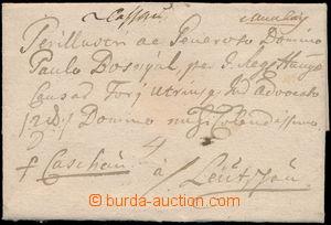 152156 - 1776 MUNKACS  skládaný přebal dopisu s ručně psaným podáním,