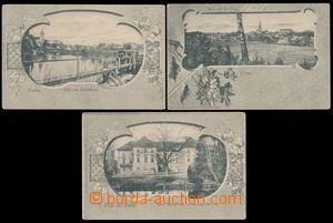 152521 - 1900 MIMOŇ (Niemes) - sestava 3ks pohlednic, vše obrazová ko