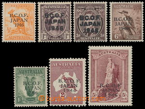 152614 - 1946 OKUPACE JAPONSKA  SG.J1-7, kompletní série s přetiskem