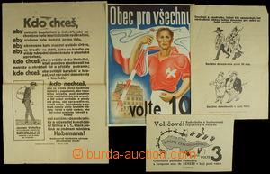 152749 - 1925-37 ČSR / POLITICKÁ PROPAGANDA  sestava 4ks volebních pl