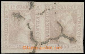152774 - 1850 Mi.2, Edifil2, Isabela II. 12C hnědofialová, vodorovná