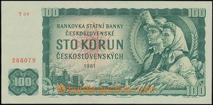 152845 - 1961 Ba.98, 100Kčs 1961, série T 69 268079; kvalita UNC/N
