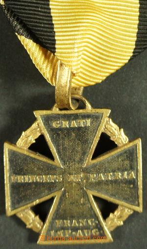 153237 - 1813-14 Armádní kříž 1813-1814 (dělový), bronz, částečně zla