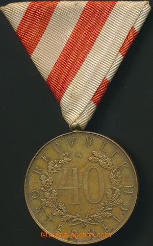 153692 -  čestná medaile za 40 let věrné služby, bronz, průměr 40mm,