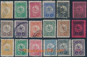 154724 - 1909 Mi.159C-168C, 169C-174C, a doplatní P31-32, kompletní s