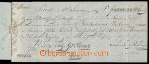 156576 - 1809 SMĚNKY/ HABSBURSKÁ MONARCHIE  předtištěná směnka vydaná