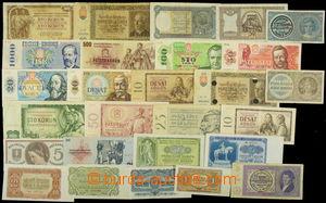 156771 - 1938-89 [SBÍRKY] SESTAVA Ba.70-85 117ks bankovek z různých o